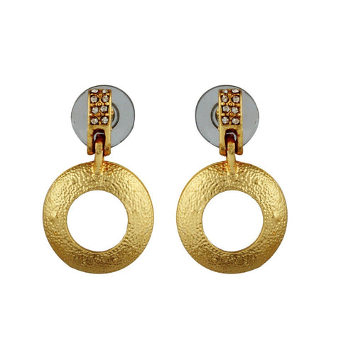 Kshitij Jewels Gold Metal Dangle & Drop Earrings For Women (KJR 007)