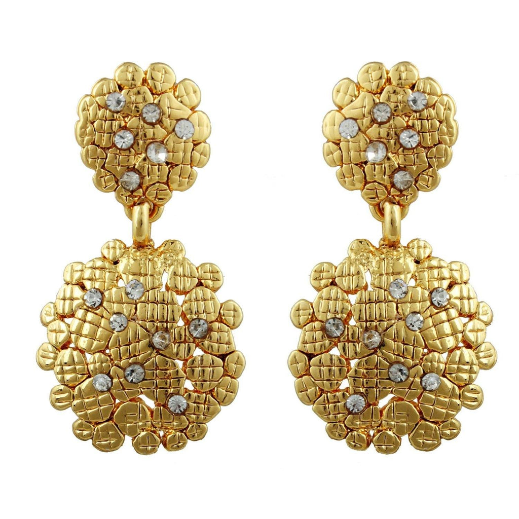 Kshitij Jewels Gold Metal Dangle & Drop Earrings For Women (KJR 010)