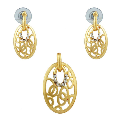 Kshitij Jewels Gold Metal Pendant Jewellery Set For Women (KJR 016)