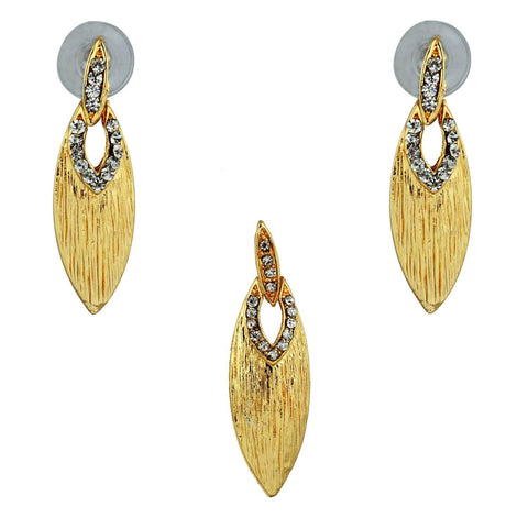 Kshitij Jewels Gold Metal Pendant Jewellery Set For Women (KJR 017)