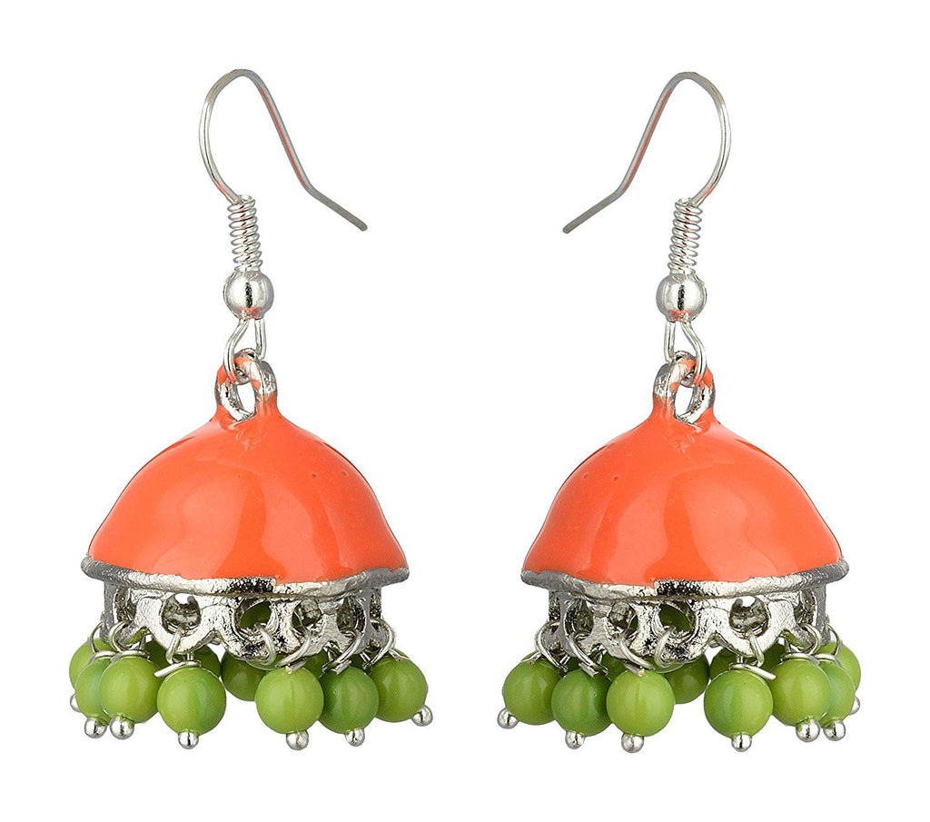 Kshitij Jewels Alloy Jhumki Earrings for Women (KJS373)