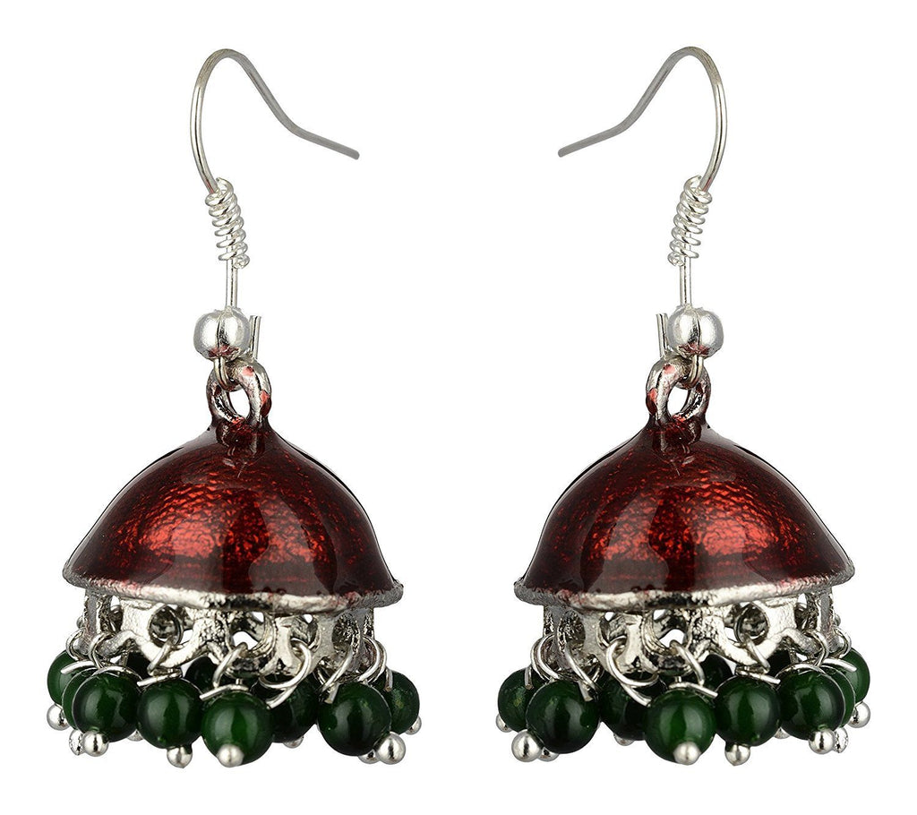 Kshitij Jewels Alloy Jhumki Earrings for Women (KJS378)