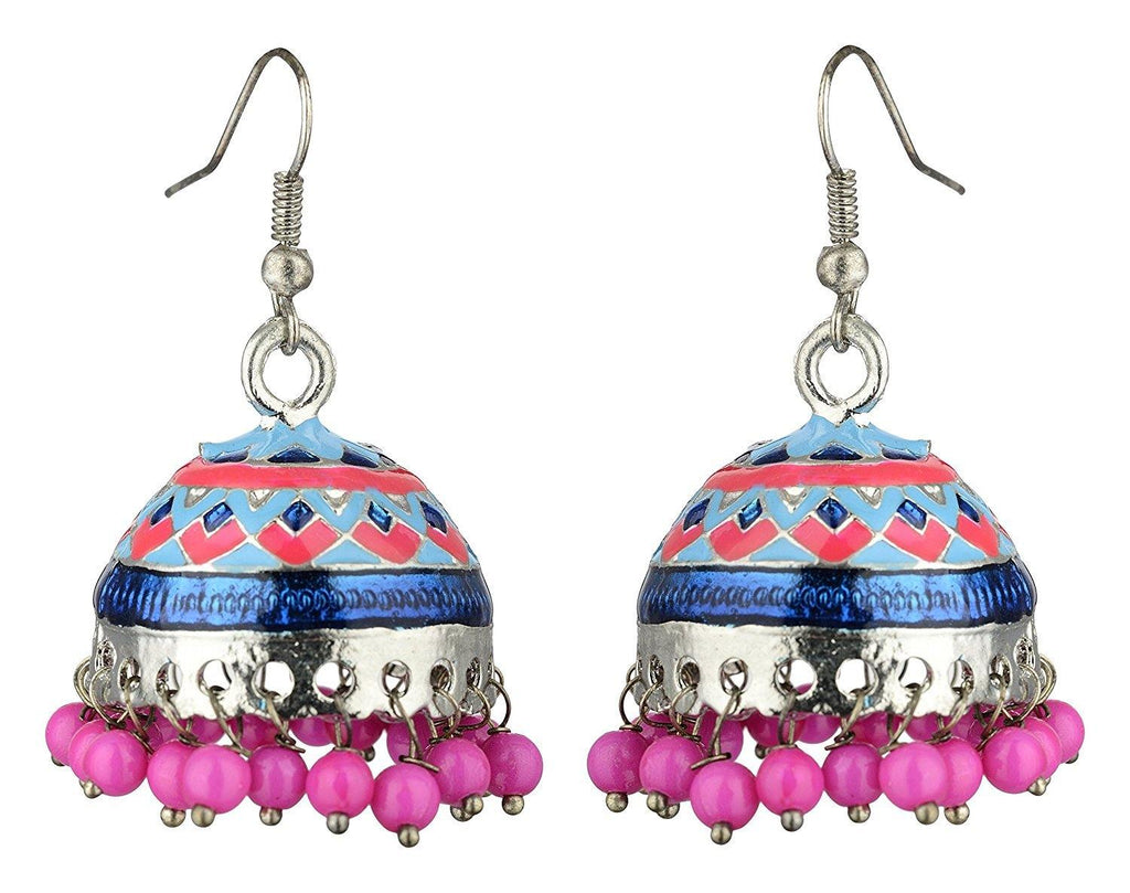 Kshitij Jewels Alloy Jhumki Earrings for Women (KJS382)