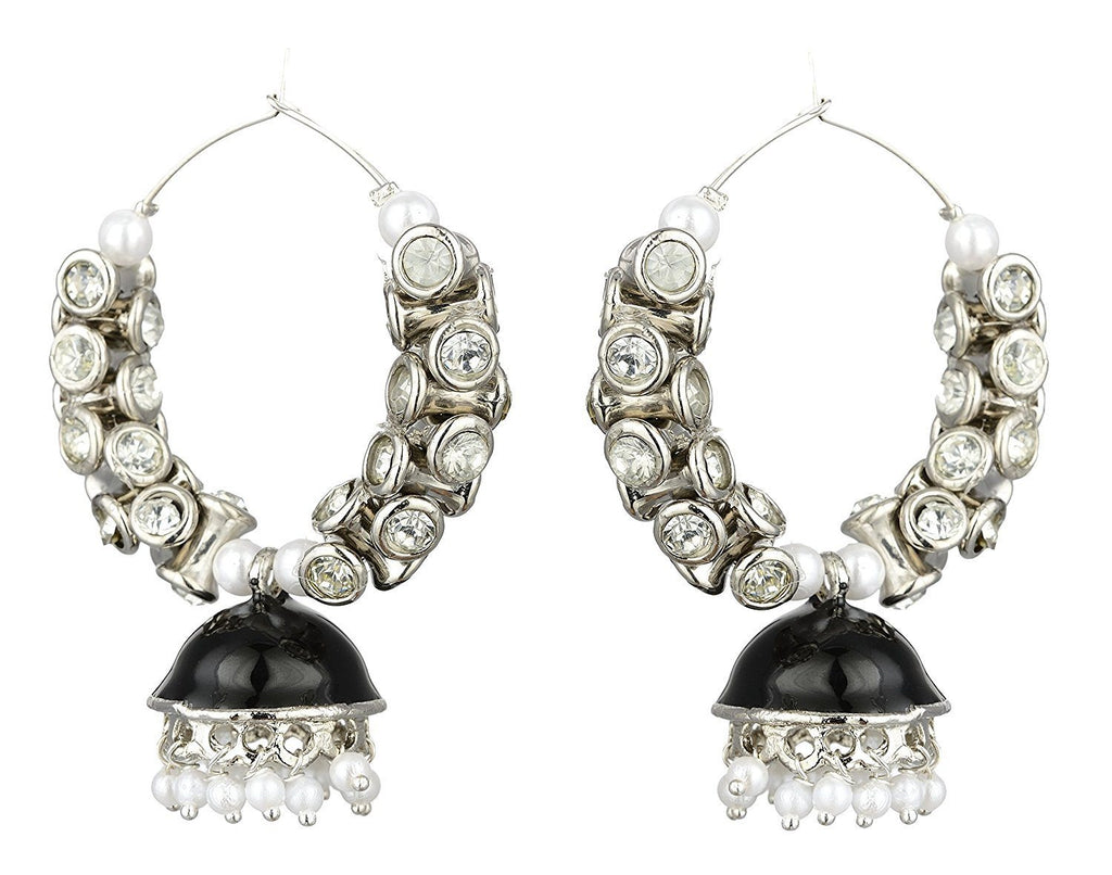 Kshitij Jewels Alloy Jhumki Earrings for Women (KJS385)