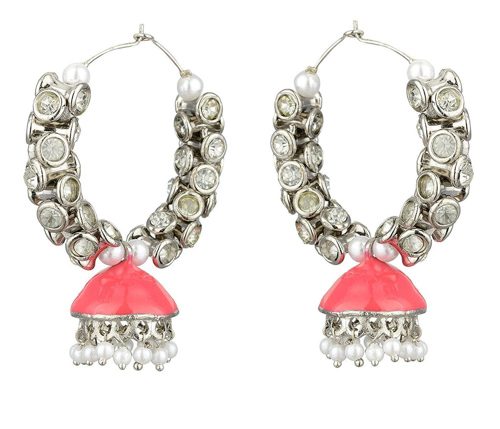 Kshitij Jewels Alloy Jhumki Earrings for Women (KJS388)