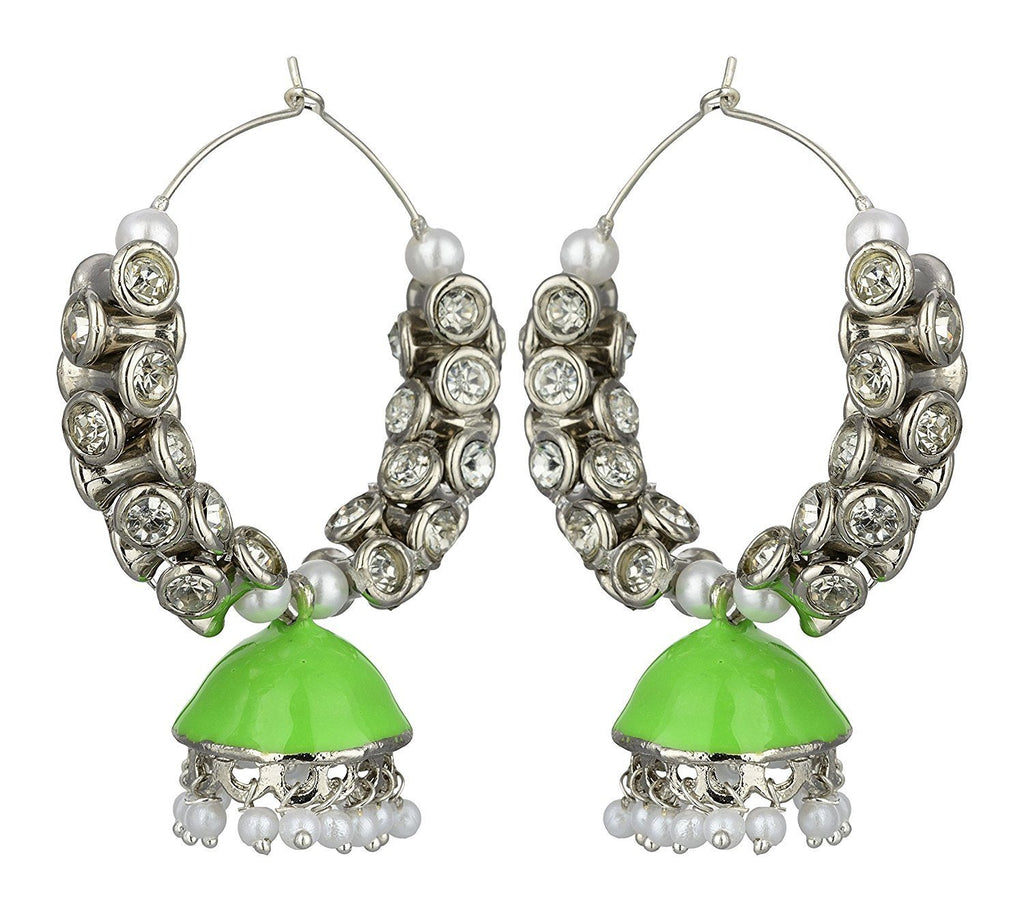 Kshitij Jewels Alloy Jhumki Earrings for Women (KJS394)