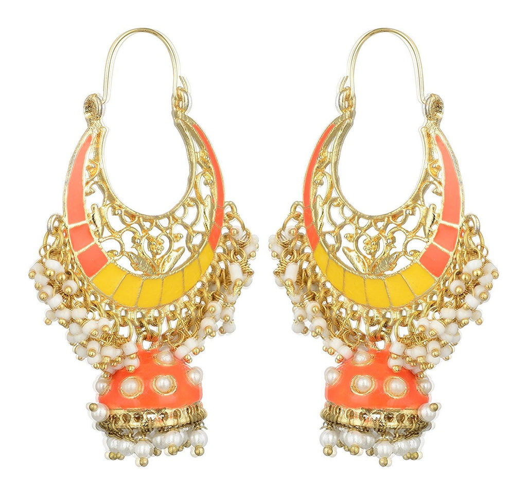Kshitij Jewels Alloy Jhumki Earrings for Women (KJS403)