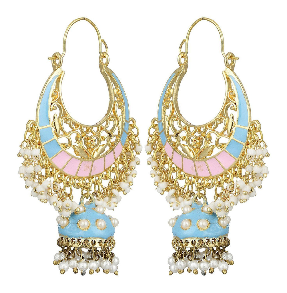 Kshitij Jewels Alloy Jhumki Earrings for Women (KJS404)