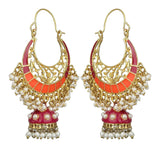 Kshitij Jewels Alloy Jhumki Earrings for Women (KJS405)