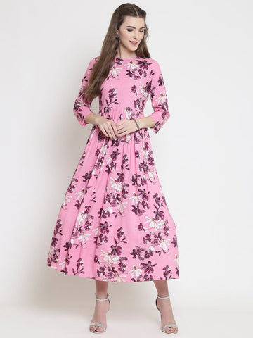 Sera Women Floral print fit & flare dress