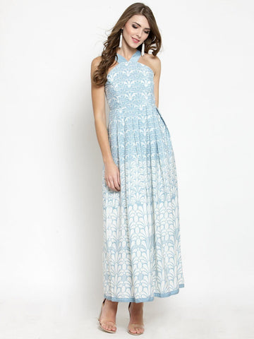 Sera Women Off-White Printed Maxi Dress