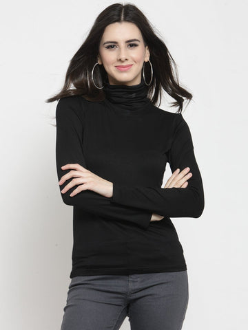 Sera Women Black Solid Top