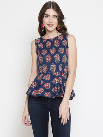 Sera Women patterned Peplum Top