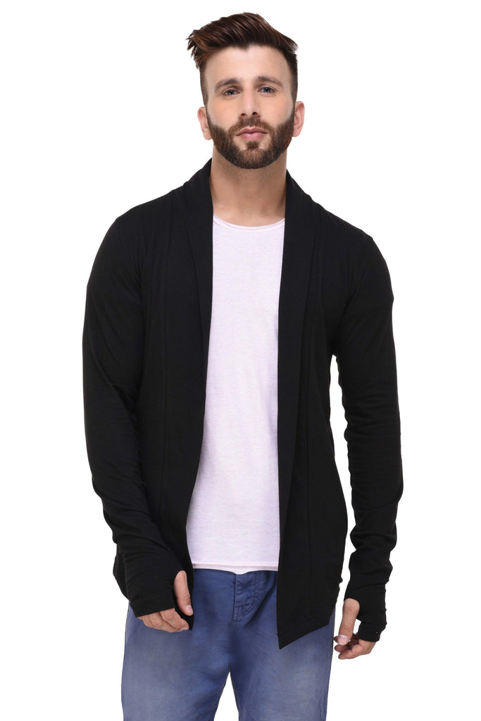 Black Thumb Hole Shrug for Men
