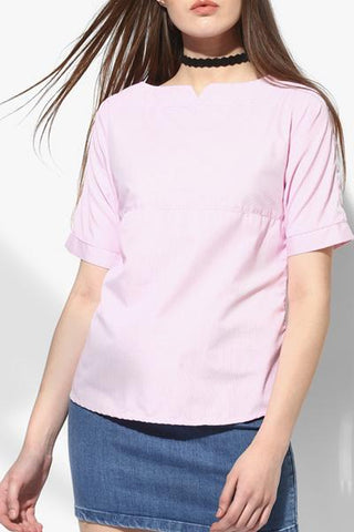 Cotton Pink Women Top