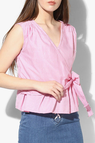 Trendy Pink Women Top