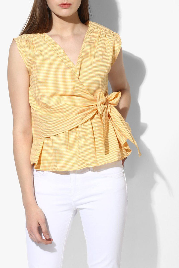 Cotton Yellow Women Top