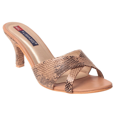 MSC Women Synthetic Beige Heel