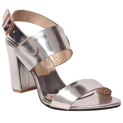 MSC Women Synthetic  Silver Footwear