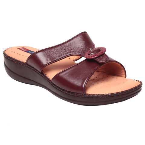 MSC Women Leather Red Sandal