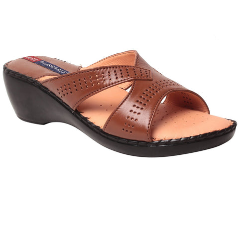 MSC Women Leather Cherry Sandal