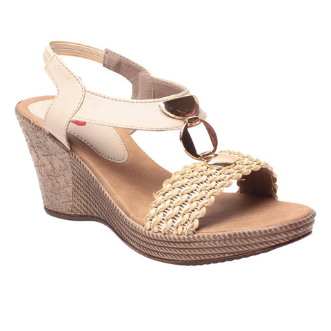 MSC Women Brown Synthetic Wedge