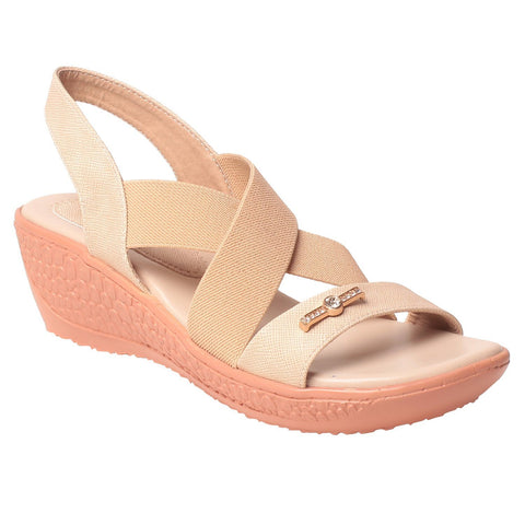 MSC Women Cream Synthetic Sandal