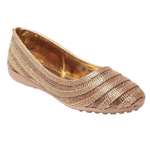 MSC Women Gold Synthetic Bellies