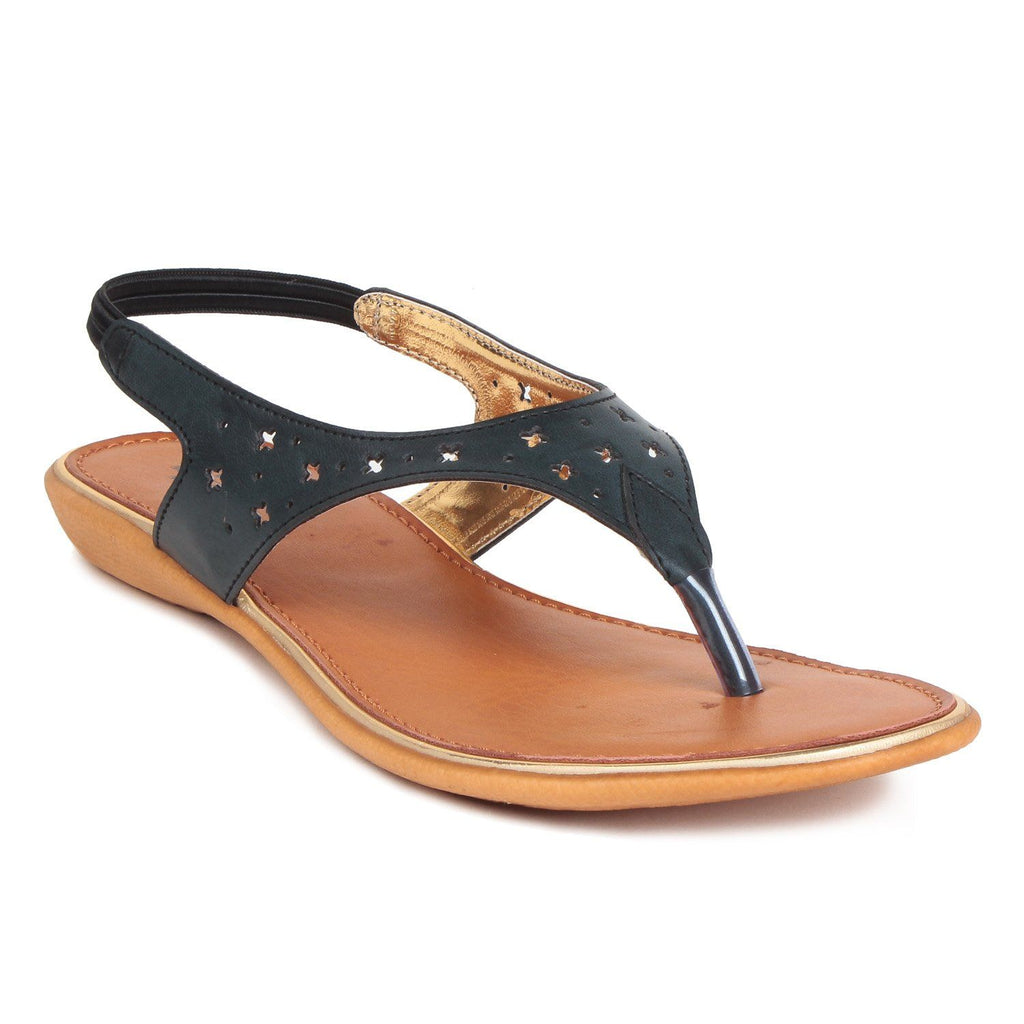 MSC Women Synthetic Black Flat