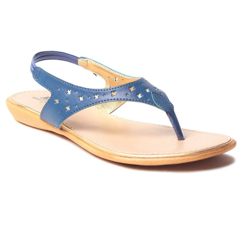 MSC Women Synthetic Blue Flat