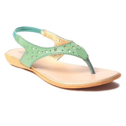 MSC Women Synthetic Green Flat