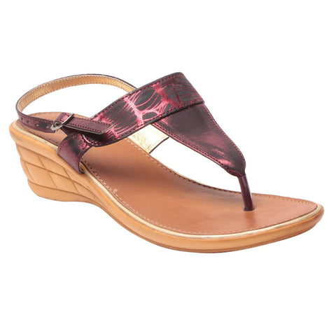 MSC Women Copper Synthetic Sandal