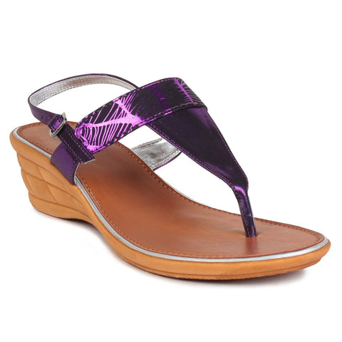 MSC Women Synthetic Purple Sandal
