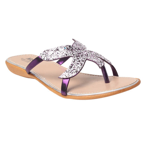 MSC Women Synthetic Purple Flat