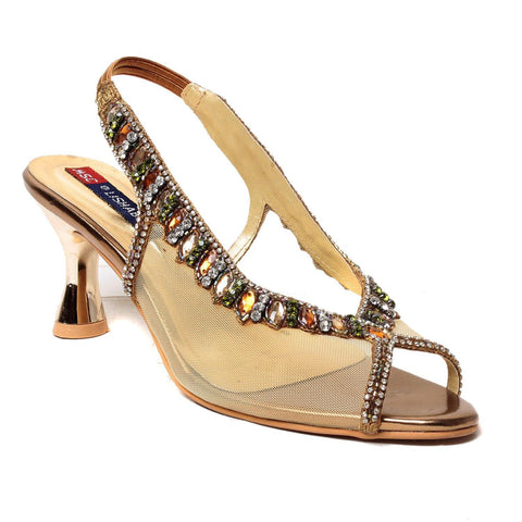 MSC Women Gold synthetic Stilettos