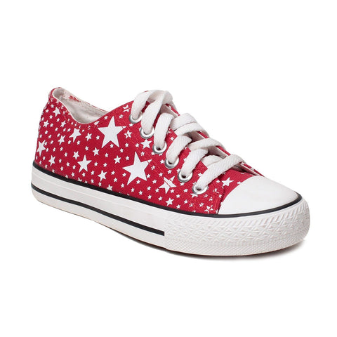 MSC Women Fabric Red Shoe