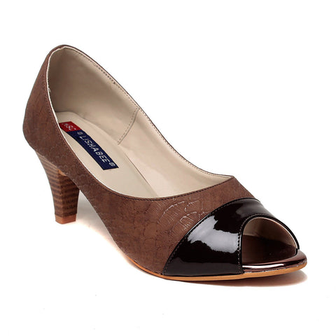 MSC Women Synthetic Black Heel
