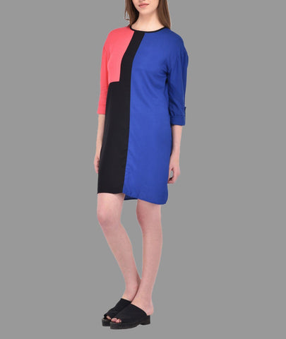 Multi Color Block Dress