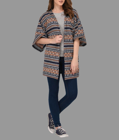 Multi Color Terry Kimono Shrug