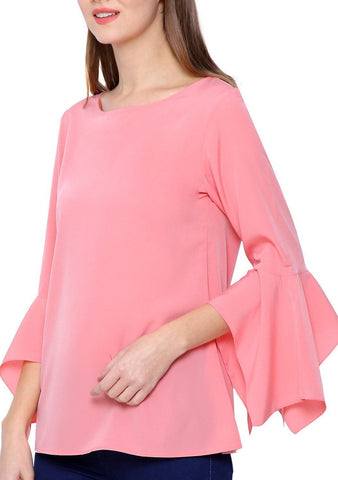 Pink Boat Neck Top
