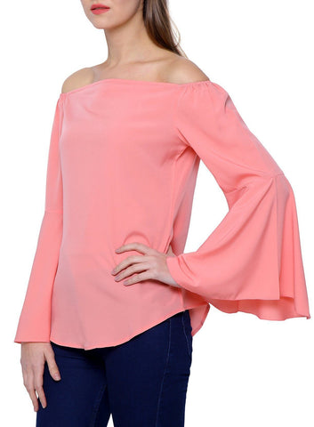 Sober Pink Off Shoulder Top