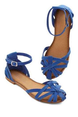 Caged Blue Flats