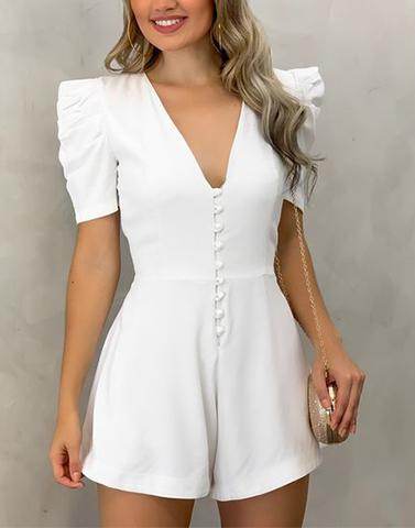White Euphoria Playsuit