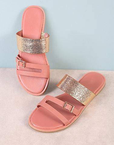 Peachy Golden Touch Flats