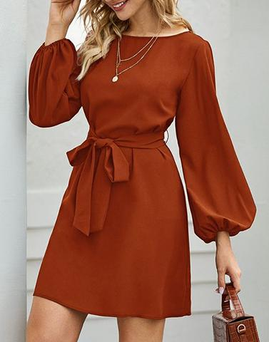 Fluent Cinnamon Shift Dress
