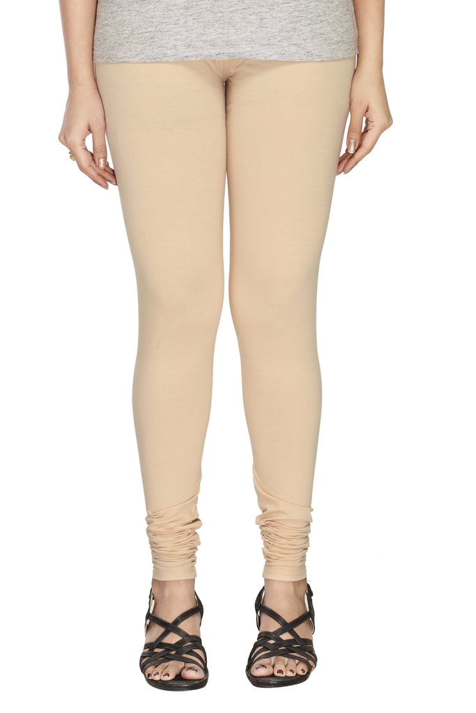 Cream Premium Solid Leggings