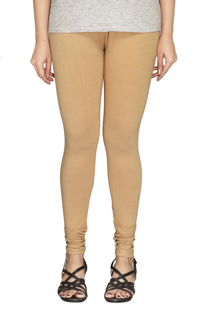 Beige Cotton Leggings