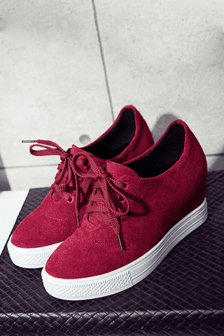 Kiss Of Rose Red Sneakers