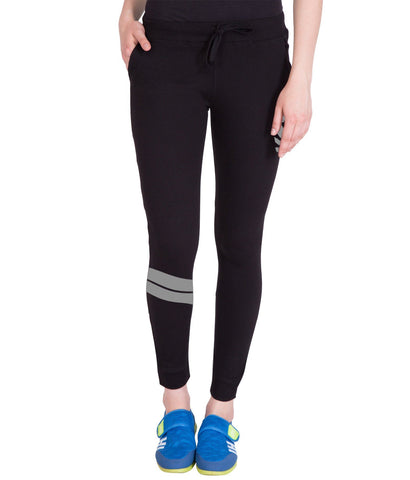 Women's Black Grey Stylish Trackpant