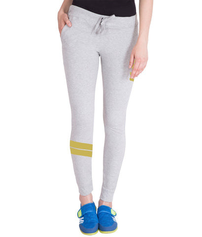 Light Grey And Golden Stylish Trackpant for Women